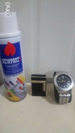 Swatch watch & lighter