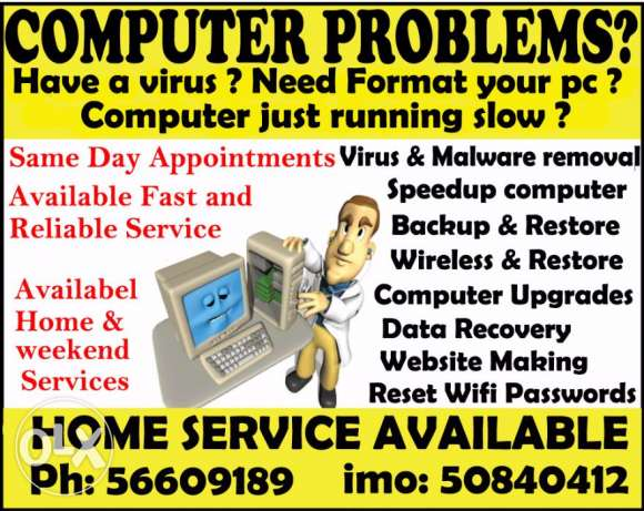 computer services at your house and office same day appointment