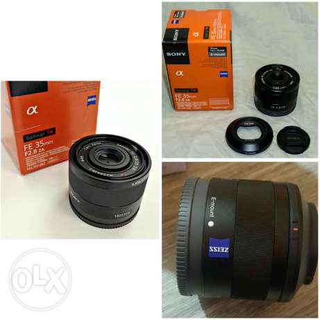 Lens sony 35 f/2.8 za like new with box and all accessories