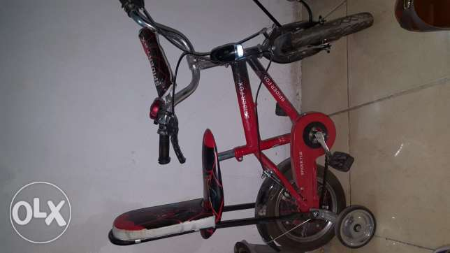 SpiderMan Bicycle for 2years to 4years old with zenon big stope light