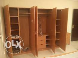 Ikea brand cupboard foldable Dining table with 6 no chairs for sale
