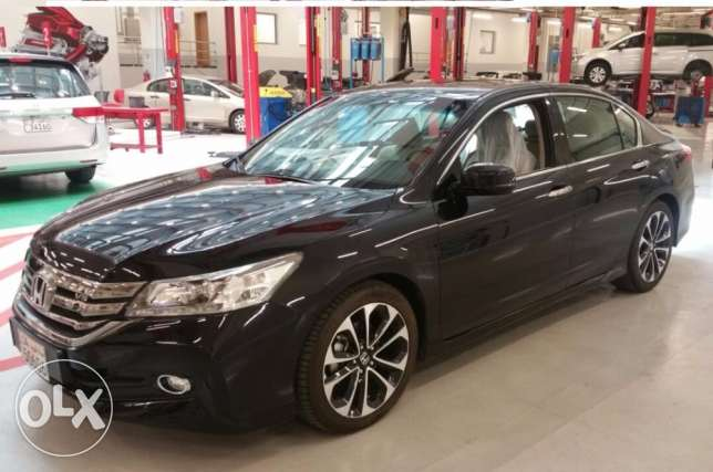 Honda Accord V6, 3.5 L Sports, 6 Cylinder July-2016 Model, Black Color