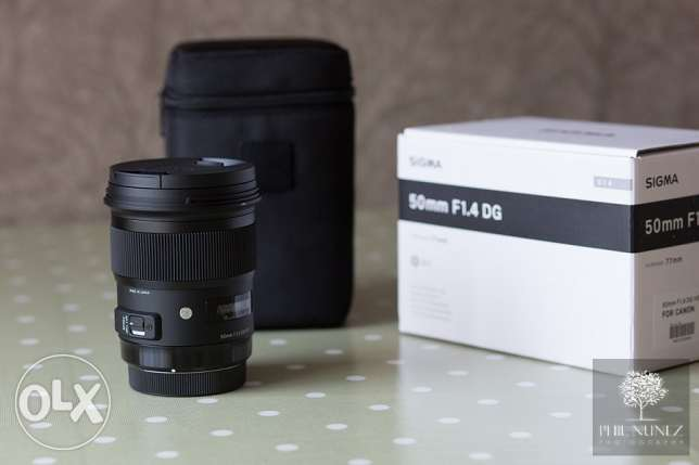Sigma 50.mm f1.4 art lens canon mount for sale المنطقة الحرة -  2