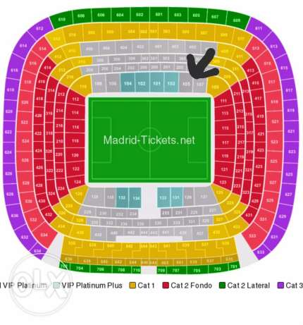Real Madrid vs. Atletico Madrid two tickets
