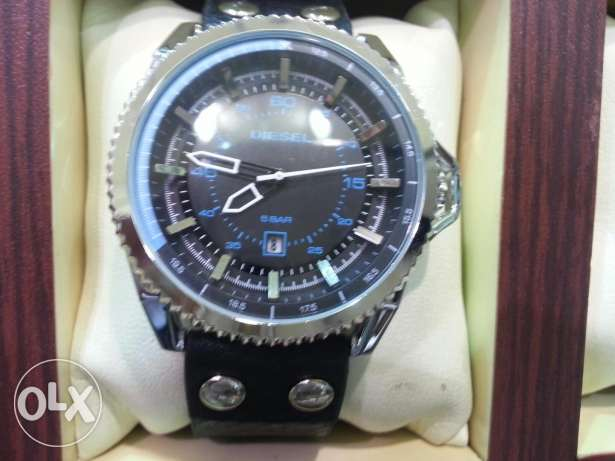 Diesel Best looking braded black and blue watch for men