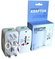2 PCS Universal Au Uk Us Eu Ac World Wide Travel Adaptor- FREE DELIVEY