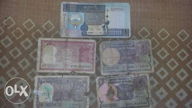 Indian and Kuwaiti dinar
