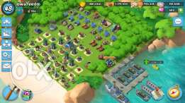 Boom Beach _ XP48 _ HQ19 _ Strong Troops _ Lots Of Powder