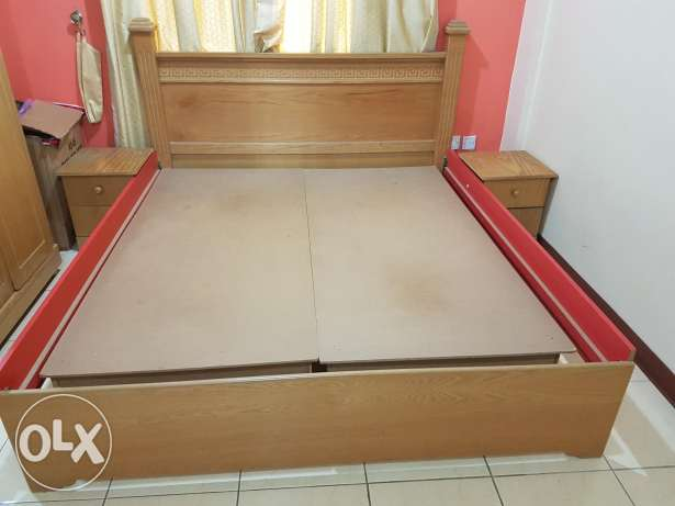 Bedroom set (Bed,side tables,6 door cupboard,dresser),