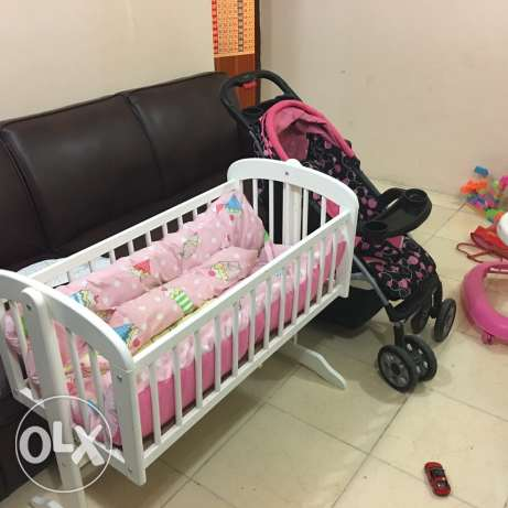 2 seater sofa and baby items