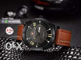 Naviforce genuine leather watches for men