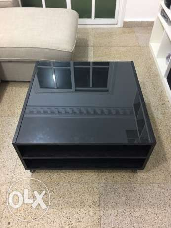 IKEA middle table with wheels black color السالمية -  3