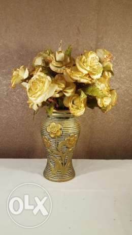 Artificial flowers with vase, very beautiful