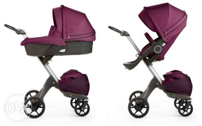 Brand new Stokke Xplory V5 Pushchair And Car seat purple
