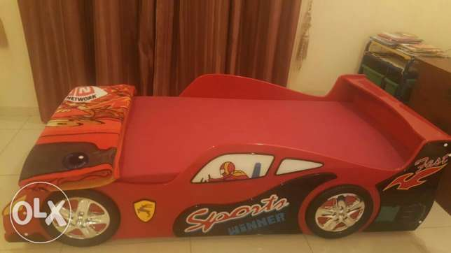 Almost New Sports car kid bed