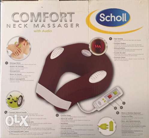 Scholl Comfort Neck Massager With Relaxing Sounds And Heat Setting