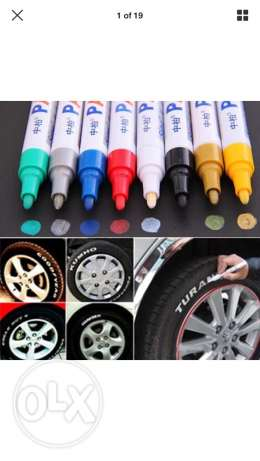 Universal Waterproof permanent car Tyre marker pen white