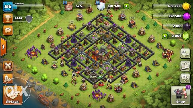 level 126 Village TH10 with clan level 6