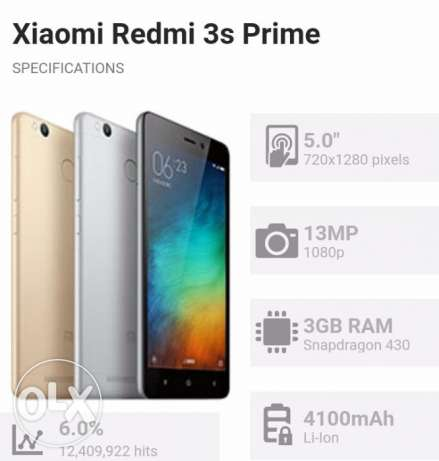Redmi 3s prime 1 month used condition new