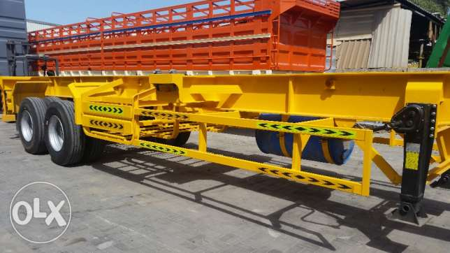 Brand new 2 Axel Skeleton Trailer with Brand new tyres and rim.