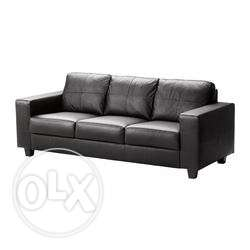 IKEA SKOGABY leather sofa 3-seater for sale