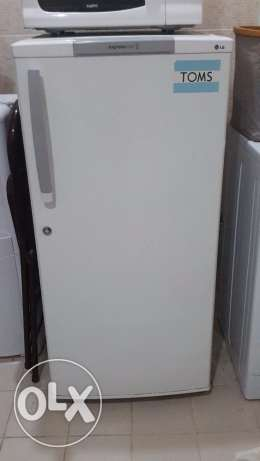A small fridge used