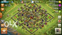 Clash of clans account th10 near max