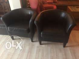 4 Leather sofas for sale