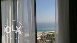 Furnished and ubfurnsihed sea view three bedroom flat in salmiya