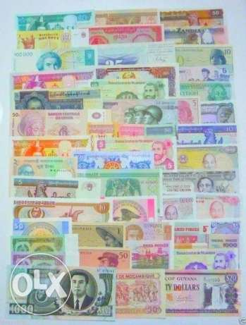 ORIGNAL 100 Different World Paper Money Collection, All Genuine, UNC,