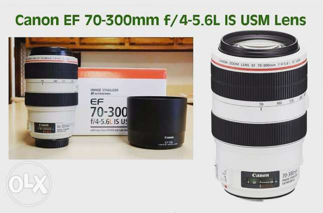 Canon zoom lens 70-300 f4-5.6 l is usm
