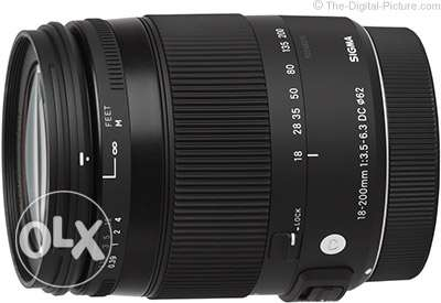 Sigma 18-200mm f/3.5-6.3 DC Macro OS HSM Lens For Nikon with USB dock