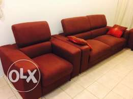 Sofa set two double seater and one single seater