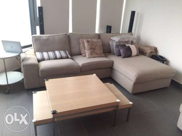 Sofa Set From Ikea With 2 Coffee Tables Al Salmiya