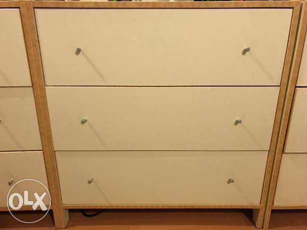 set of three ikea chess drawer