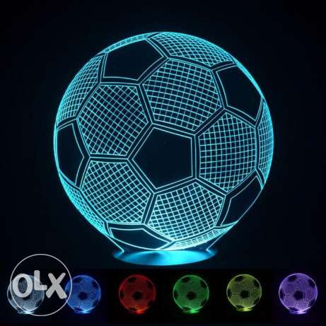 7color changing 3D Light football Design LED Lamp Decor