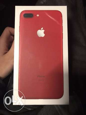 IPHONE RED New 7 Plus Apple warranty