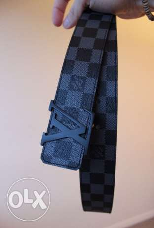 Authentic Louis Vuitton Black on Black belt