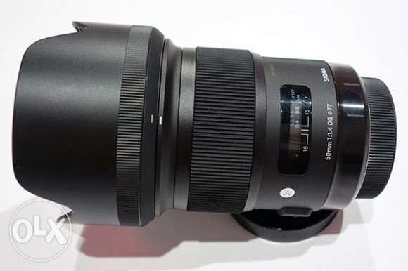 Sigma 50.mm f1.4 art lens canon mount for sale المنطقة الحرة -  1