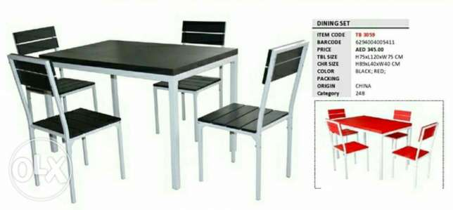 Dinning Table with 4 chair (FREE HOME DELIVERY)