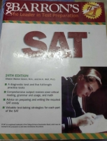 SAT test preparation book