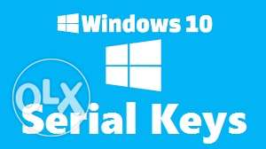 Windows 10 pro serials number