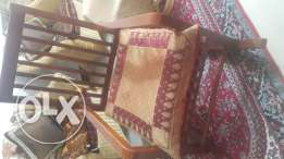 Wooden rocking chair on sale