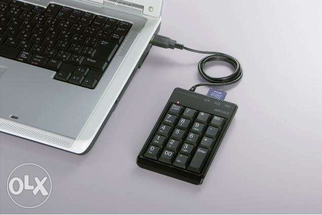 Buffalo numeric keypad with card reader - black - FREE DELIVERY