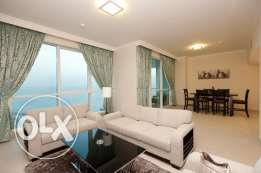 Large sea view fully furnished luxury 3 bedroom apartment with seaview