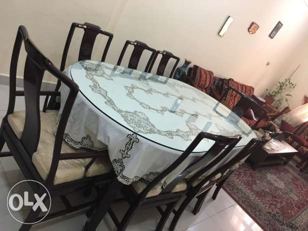 ROSE WOOD dining table/family moving