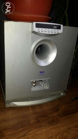 Wansa powered subwoofer with karaoke jack