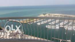 Salmiya, exceptional 3 bedrooms flat with balcony full sea view