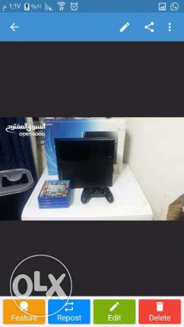 ps4 for sale european with 4 games 500gb in good condition used 1month