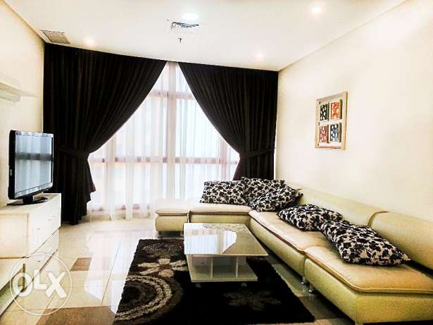 Modern and spacious three bedroom sea view apartment in Salmiya